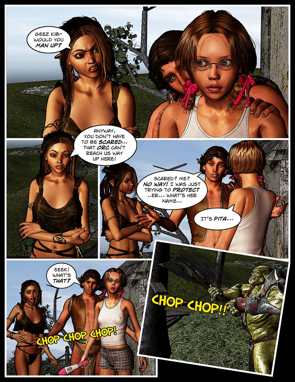 Nikki Webcomic Page 129 – Chop Chop
